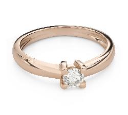 """Помолвочное кольцо с Бриллиантом """"Прочность 126"""""""