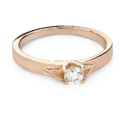 """Saderināšanās gredzens ar Briljantu """"Mīlestības apskāvienos 62"""""""