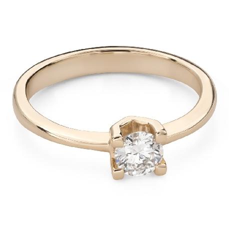 """Помолвочное кольцо с Бриллиантом """"Прочность 125"""""""