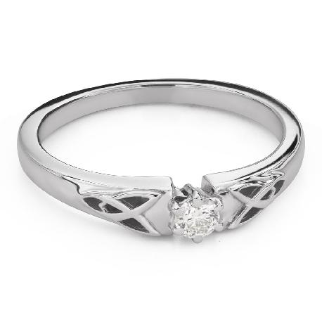 """Помолвочное кольцо с Бриллиантом """"Единственная 144"""""""