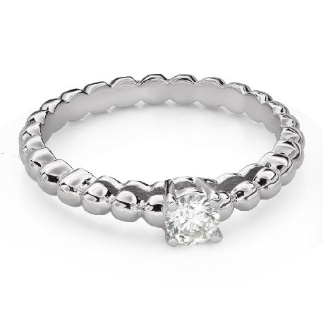 """Помолвочное кольцо с Бриллиантом """"Прочность 128"""""""