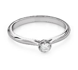 """Помолвочное кольцо с Бриллиантом """"Цветок 8"""""""