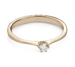 """Помолвочное кольцо с Бриллиантом """"Королева 72"""""""
