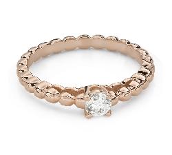 """Помолвочное кольцо с Бриллиантом """"Прочность 129"""""""