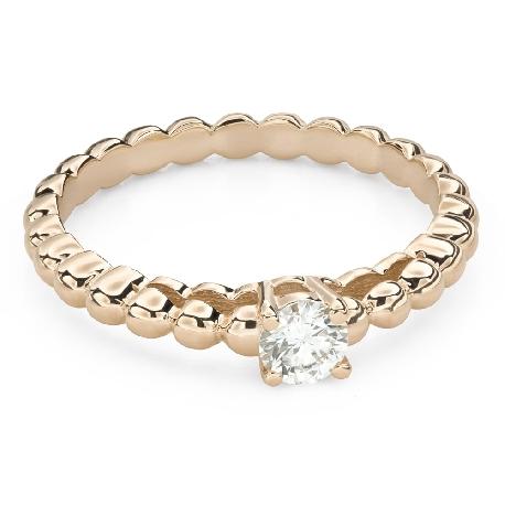"""Помолвочное кольцо с Бриллиантом """"Прочность 130"""""""