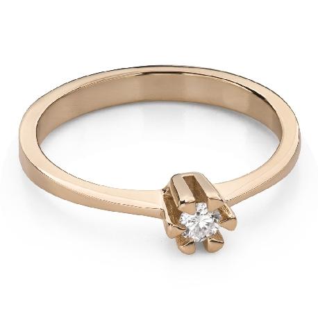 """Помолвочное кольцо с Бриллиантом """"Прочность 132"""""""