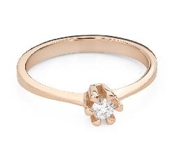 """Помолвочное кольцо с Бриллиантом """"Прочность 134"""""""