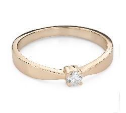 """Помолвочное кольцо с Бриллиантом """"Прочность 135"""""""