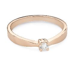 """Помолвочное кольцо с Бриллиантом """"Прочность 136"""""""