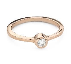 """Помолвочное кольцо с Бриллиантом """"Объятная 33"""""""