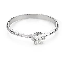 """Помолвочное кольцо с Бриллиантом """"Королева 74"""""""