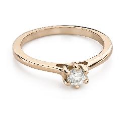 """Saderināšanās gredzens ar Briljantu """"Sirds karaliene 34"""""""