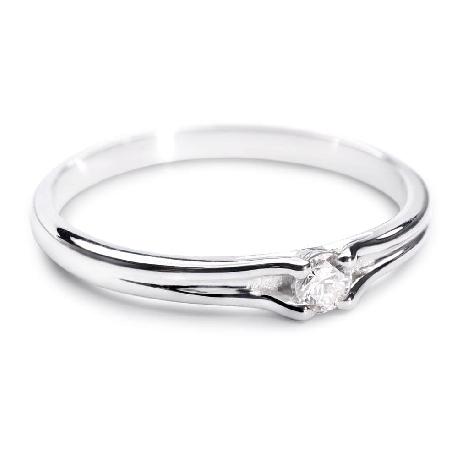 """Помолвочное кольцо с Бриллиантом """"Хрупкая 19"""""""