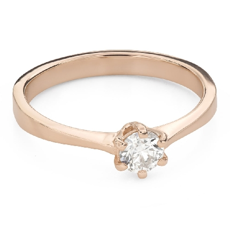 """Помолвочное кольцо с Бриллиантом """"Королева 75"""""""