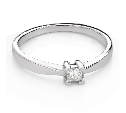 """Saderināšanās gredzens ar Dimantu """"Princese 111"""""""