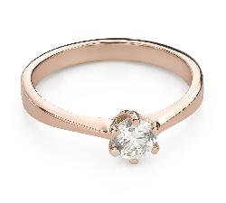 """Помолвочное кольцо с Бриллиантом """"Королева 77"""""""