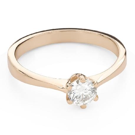 """Помолвочное кольцо с Бриллиантом """"Королева 78"""""""