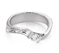 """Помолвочное кольцо с Бриллиантом """"Вихрь 41"""""""