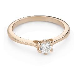 """Помолвочное кольцо с Бриллиантом """"Королева сердца 36"""""""