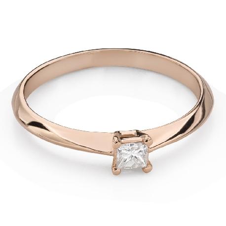 """Saderināšanās gredzens ar Dimantu """"Princese 117"""""""