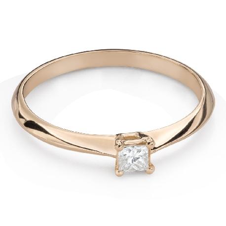 """Помолвочное кольцо с Aлмазом """"Принцесса 120"""""""