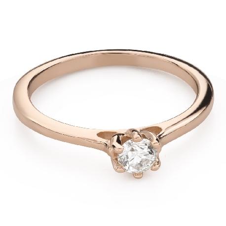 """Помолвочное кольцо с Бриллиантом """"Королева сердца 37"""""""