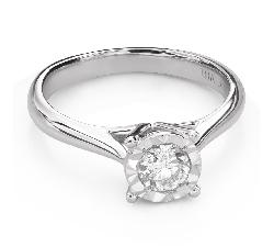 """Помолвочное кольцо с Бриллиантом """"Прочность 141"""""""