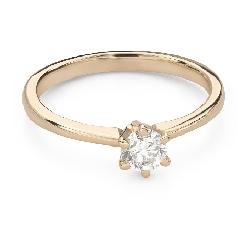 """Помолвочное кольцо с Бриллиантом """"Королева 82"""""""