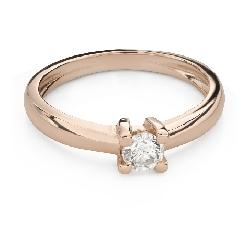 """Помолвочное кольцо с Бриллиантом """"Прочность 140"""""""