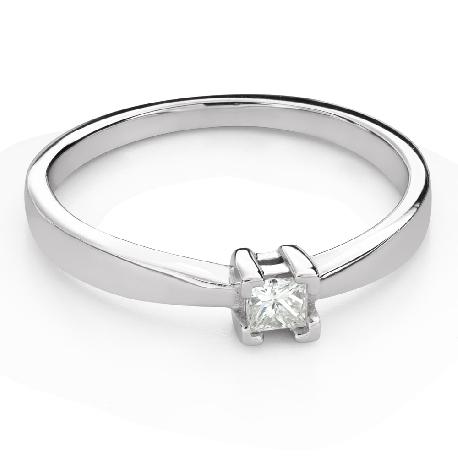 """Помолвочное кольцо с Aлмазом """"Принцесса 121"""""""
