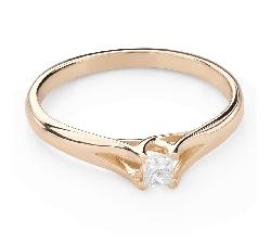 """Помолвочное кольцо с Aлмазом """"Принцесса 123"""""""