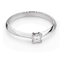 """Saderināšanās gredzens ar Dimantu """"Princese 124"""""""