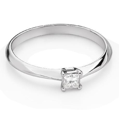 """Помолвочное кольцо с Aлмазом """"Принцесса 124"""""""