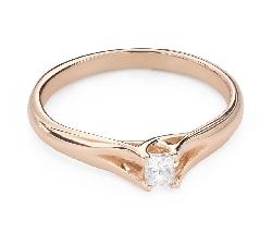 """Saderināšanās gredzens ar Dimantu """"Princese 125"""""""