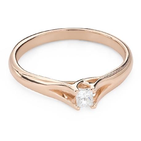 """Помолвочное кольцо с Aлмазом """"Принцесса 125"""""""