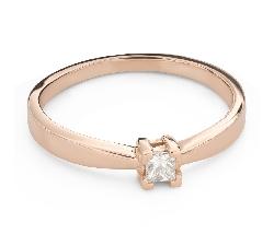 """Помолвочное кольцо с Бриллиантом """"Принцесса 127"""""""