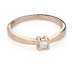 """Помолвочное кольцо с Бриллиантом """"Принцесса 128"""""""