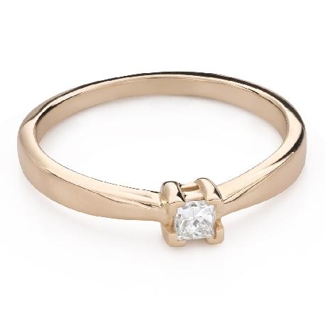 """Saderināšanās gredzens ar Briljantu """"Princese 129"""""""