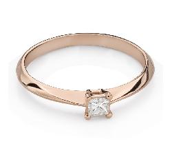 """Помолвочное кольцо с Бриллиантом """"Принцесса 130"""""""