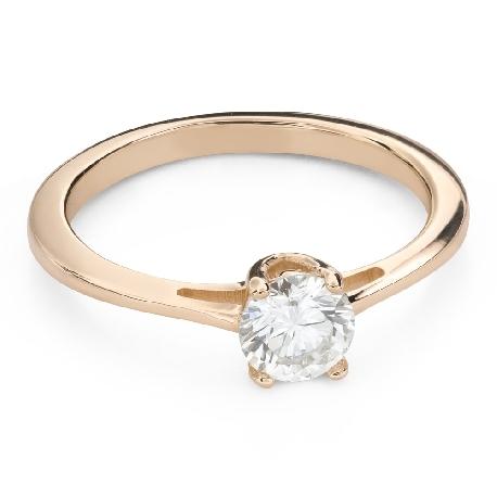 """Помолвочное кольцо с Бриллиантом """"Богиня 227"""""""