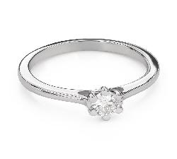 """Помолвочное кольцо с Бриллиантом """"Королева сердца 41"""""""