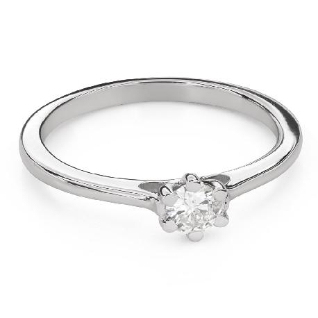 """Помолвочное кольцо с Бриллиантом """"Королева сердца 43"""""""