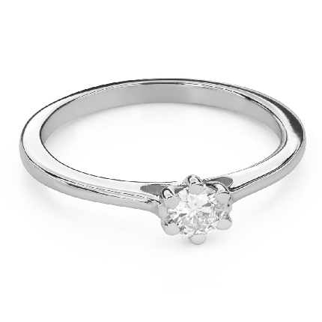 """Saderināšanās gredzens ar Briljantu """"Sirds karaliene 43"""""""