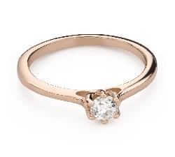 """Помолвочное кольцо с Бриллиантом """"Королева сердца 44"""""""