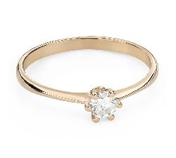 """Помолвочное кольцо с Бриллиантом """"Королева 95"""""""