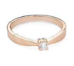 """Помолвочное кольцо с Бриллиантом """"Прочность 147"""""""