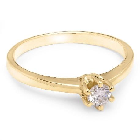 """Помолвочное кольцо с Бриллиантом """"Королева 98"""""""