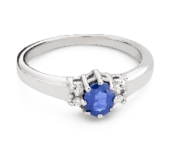 """Помолвочное кольцо с драгоценными камнями """"Сапфир 39"""""""