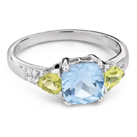 """Zelta gredzens ar dārgakmeņiem """"Krāsas 101"""""""