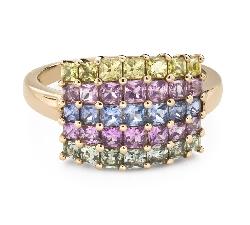 """Помолвочное кольцо с драгоценными камнями """"Сапфир 41"""""""